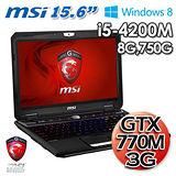 MSI微星 GT60 15.6吋 i5-4200M GTX770M 3G獨顯 Win8電競筆電
