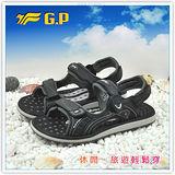 [GP]親子系列男鞋-舒適磁釦涼拖兩用鞋 G9149M-10(黑色)共有三色