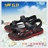 [GP]親子系列男鞋-舒適磁釦涼拖兩用鞋 G9149M-14(黑紅色)共有三色