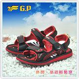 [GP]親子系列中性款涼鞋-舒適磁釦涼拖兩用鞋 G9149W-14(黑紅色)共有三色