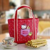 《HELLO KITTY》芝麻蛋捲禮盒-黃蘋果版(二盒)