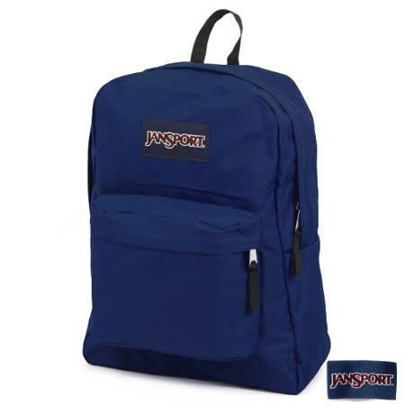 JanSport 校園背包(SUPER BREAK)-深藍