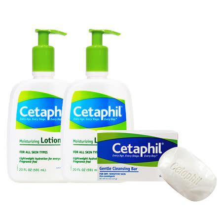 Cetaphil 舒特膚 溫和乳液 591ml (20oz) 兩入組 買就送 溫和潔膚凝脂 127g*1
