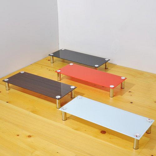 防爆強化玻璃螢幕架桌上架置物架^(4色^)