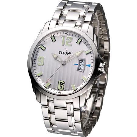 梅花 TITONI Jetstream 翱翔時尚 紳士錶 TQ53959S-504