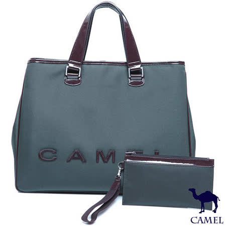 CAMEL - 英倫極簡風超質感牛皮商務型筆電手提斜背2用公事包
