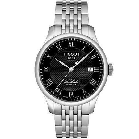 TISSOT Le Locle 力洛克系列 都會簡約機械錶-黑 T41148353