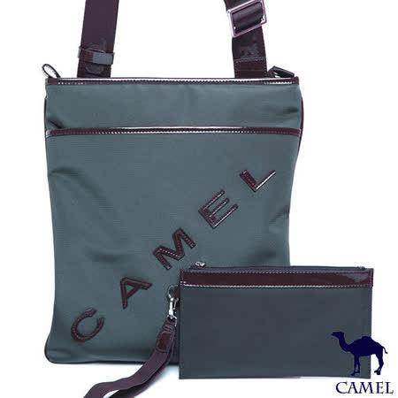CAMEL - 英倫極簡風超質感牛皮薄型直立式休閒側肩包