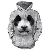 『摩達客』(預購)美國進口【The Mountain】熊貓胖達臉 長袖連帽T恤
