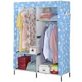 【家可】 日式特大不織布衣櫥櫃(藍腳ㄚ)