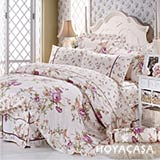 《 HOYACASA 富貴花開》雙人純棉八件式兩用被床罩組