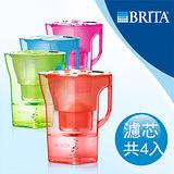 【德國BRITA】 Navelia Cool若薇亞型2.3L濾水壺+MAXTRA三入濾芯 (本組合共有四支濾芯)-共四色選擇