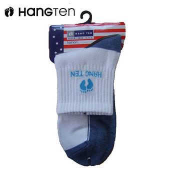 HANG TENHT1/2陰陽休閒襪-藍(22~24cm)