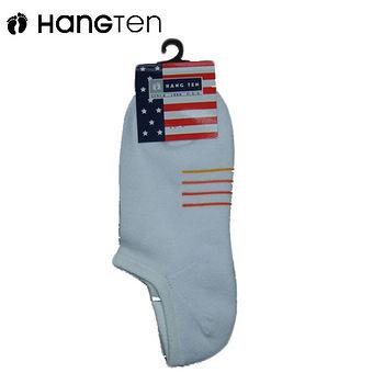 HANG TEN 4橫線運動襪-白(22~24cm)