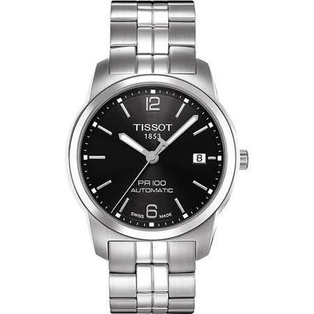 TISSOT PR100 都會紳士 機械腕錶-黑 T0494071105700
