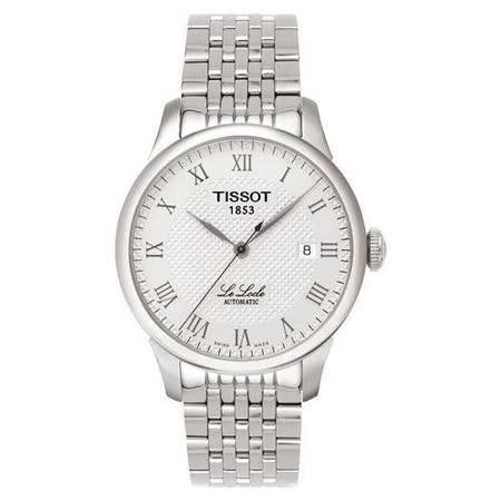 TISSOT Le Locle 力洛克系列 圖騰紋機械錶-白 T41148333