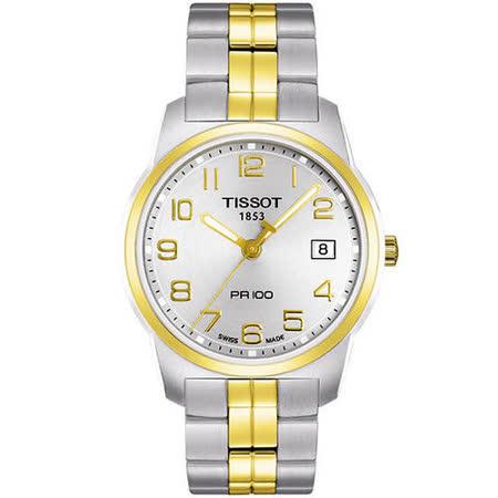 TISSOT PR100 瑞士時尚腕錶-半金 T0494102203201