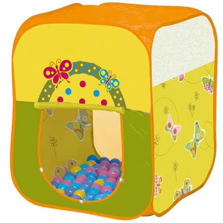 寶貝樂 四角蝴蝶帳篷折疊遊戲球屋送100球