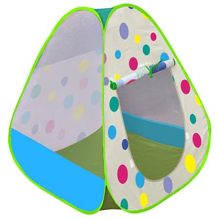 寶貝樂 繽粉彩球帳篷折疊遊戲球屋送200球(綠)