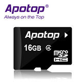 APOTOP 16GB MicroSDHC Class4記憶卡 (附SD轉卡)