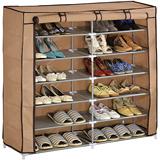 日式特大雙排七層鞋櫃