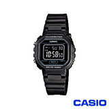 【CASIO卡西歐】復古風方形整點報時電子錶 LA-20WH-1B