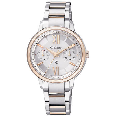 CITIZEN xC 甜心光動能時尚腕錶-半金 FD1014-52A