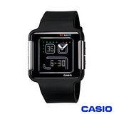 【CASIO卡西歐】復古電玩潮炫彩雙顯錶 LCF-20-1D