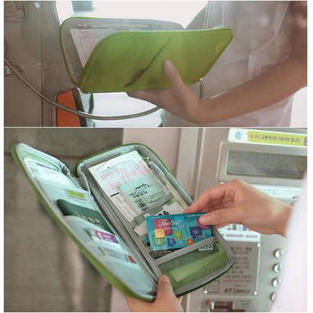 【PS Mall】旅行手拿包 多功能隨身長護照夾/收納包 (J147)