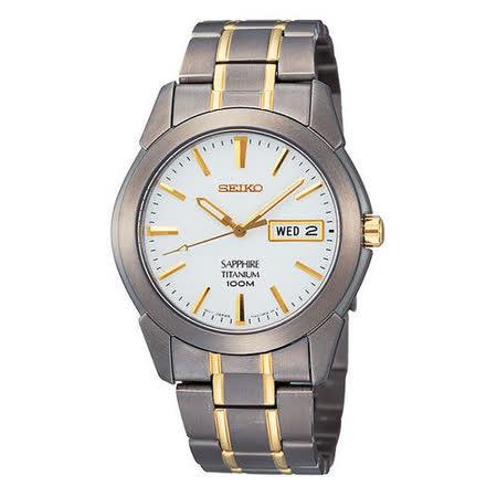 SEIKO 鈦金屬 經典時尚剛帶腕錶-半金 7N43-0AS0KS