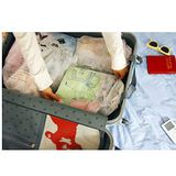【PS Mall】背包客必備法國風情的女孩旅行用無紡布分類束口收納袋_7入裝(J128)