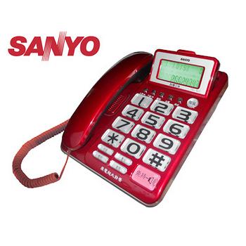 SANYO 三洋 大螢幕、大字鍵有線電話機 TEL-827 (三色可選)