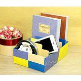 【PS Mall】環保紙質DIY多圖樣分格式收納盒_2個(J635)