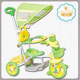 《寶貝樂》 快樂蛙兒童遊戲腳踏車/手推車-綠