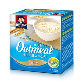 桂格美味大燕麥片-麥芽牛奶52g*5入