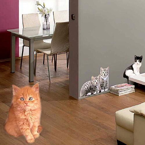《KOMAR》可愛小貓無痕壁貼