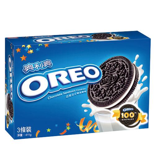 奧利奧OREO巧克力三明治餅乾~原味口味411g