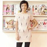 【H&M】 洞洞針織連身裙(粉紅)