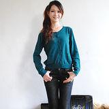 【H&M】歐美時尚排扣細針織棉外套(綠)