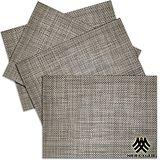 《M.B.H─辛吉德爾》PVC編織餐墊(銀灰)(4入)