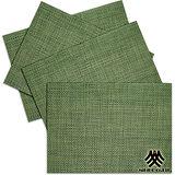 《M.B.H─辛吉德爾》PVC編織餐墊(草綠)(4入)
