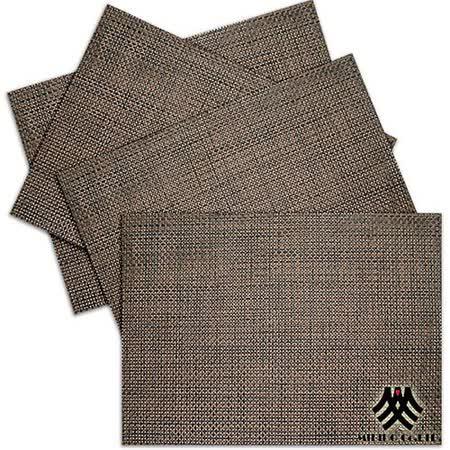 《M.B.H─辛吉德爾》PVC編織餐墊(咖啡)(4入)