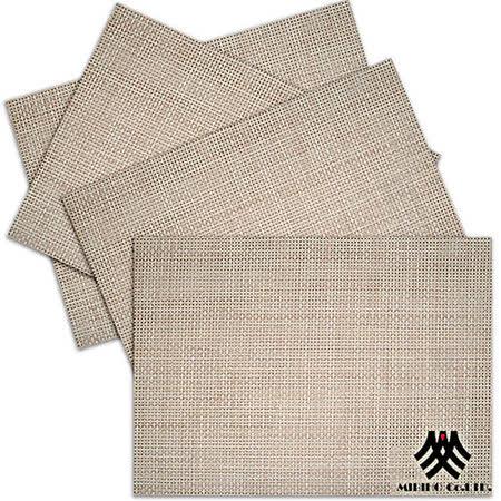 《M.B.H─辛吉德爾》PVC編織餐墊(淺駝)(4入)