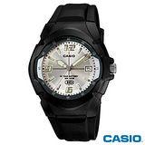 【CASIO卡西歐】休閒個性運動膠帶錶 MW-600F-7A