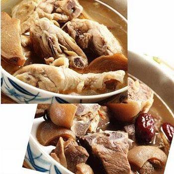 百年吳家 廟口經典雙拼組合 (共麻油雞3人份/組+羊肉爐1350c.c/包)(含運)