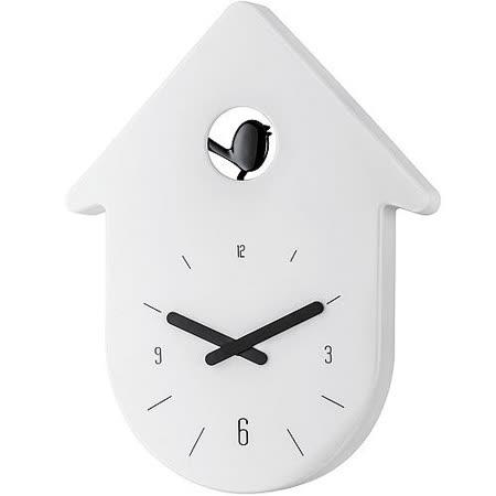 《KOZIOL》布穀鳥壁面時鐘(白)