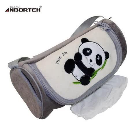 【安伯特】可愛貓熊面紙套(灰色圓仔款)