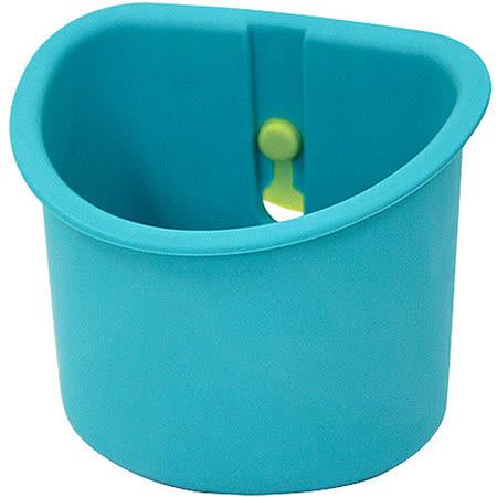 《Sceltevie》吸盤收納盒(藍綠)