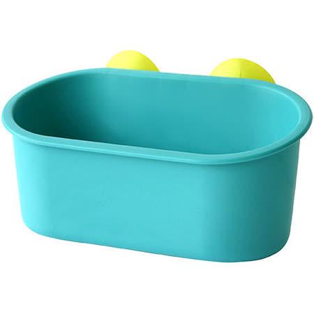 《Sceltevie》長型吸盤收納盒(藍綠)