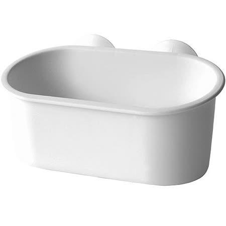 《Sceltevie》長型吸盤收納盒(白)